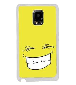 Grin 2D Hard Polycarbonate Designer Back Case Cover for Samsung Galaxy Note 4 :: Samsung Galaxy Note 4 N910G :: Samsung Galaxy Note 4 N910F N910K/N910L/N910S N910C N910FD N910FQ N910H N910G N910U N910W8