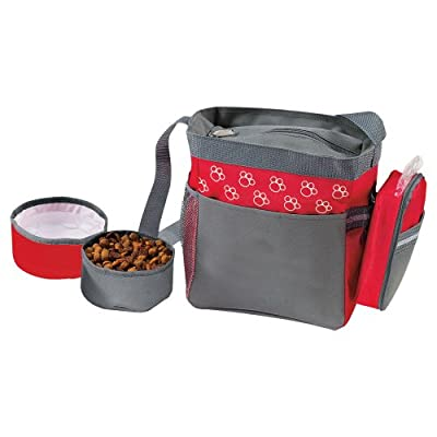 Paw Design Pet Dog Travel Shoulder Bag & Collapsible Feeding Food & Water Bowls from eBuy GB
