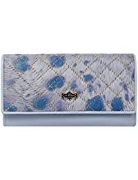 Da Milano Women's Wallet Grey Blue (LW-0889GRY/BLUEFUR)