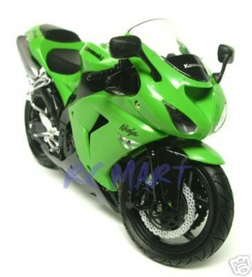 Kawasaki Motorcycle ZX-10R (2006) Green 1:12 Scale