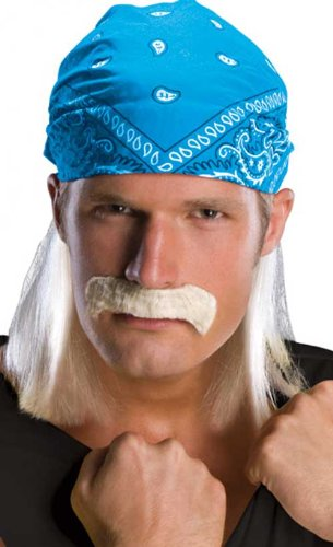 Rubie's Costume Co Men's Hulk Hogan Head Rag with Blonde Hair & Mustache 51834
