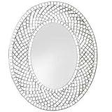 Sparkly Mosaic-Border Wall Mirror