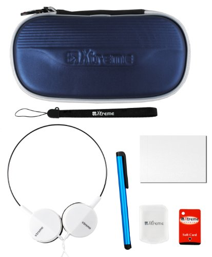 Xtreme 91890 Travel Kit 7 in 1, Borsa, Cuffie, Cintura di Sicurezza, Playstation Vita