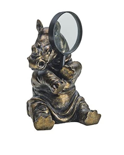 Rhino Magnifying Glass Holder, Bronze