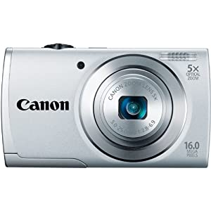 Canon PowerShot A2500 16MP Digital Camera with 5x Optical Image Stabilized Zoom with 2.7-Inch LCD (Silver)