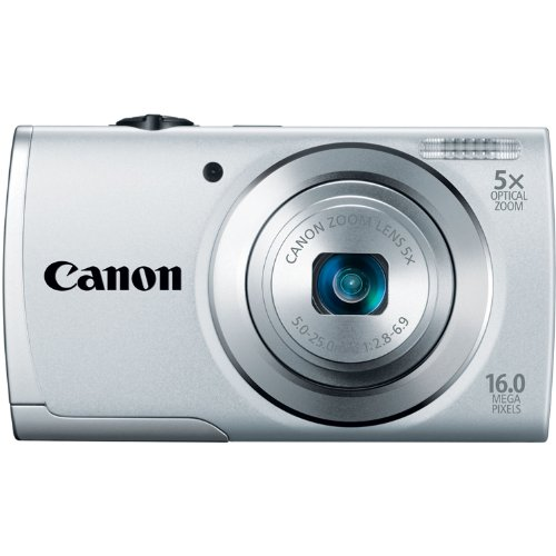 41EwQSXQSVL Canon PowerShot A2500 16MP Digital Camera with 5x Optical Zoom with 3 Inch LCD (Silver)