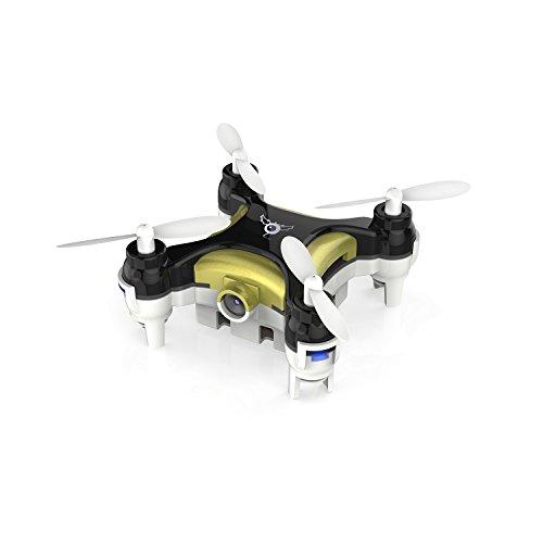 Metakoo CX-10C Mini Dron de 4 canales de 3D Flip (Volteo de 360º) UAV de Giroscopio de 6 Ejes 2.4G con la Cámara de 0.3 Megapíxel con Gran Capacidad de Batería con Luces de LED (Negro)