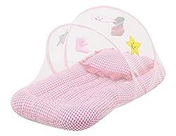 Hug Me Kids Baby Net Mattress with Pillow (Pink)