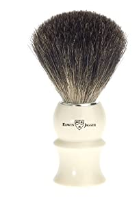 Edwin Jagger Pure Badger Hair Shaving Brush - Imitation Ivory
