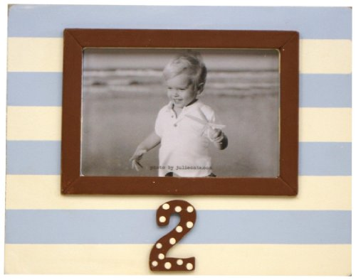 New Arrivals 2nd Birthday Frame, Blue/Chocolate