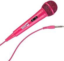 RockJam rjmc303de PK Hi-Fi cableada micrófono para karaoke y profesional uso Color Rosa