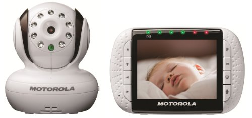 Motorola MBP36 Remote Wireless Video Baby Monitor with 3.5-Inch Color LCD Screen, Infrared Night Vision and Remote Camera Pan, Tilt and Zoom, 3.5 Inch