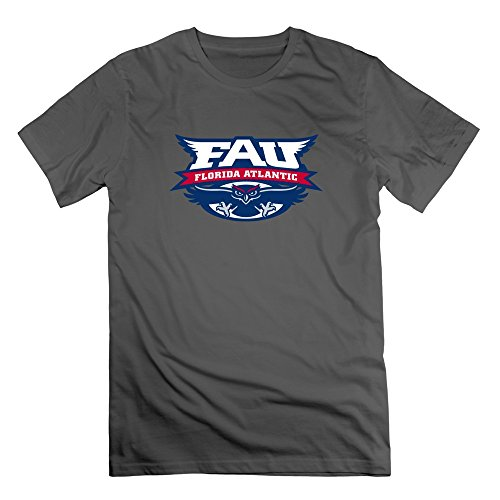 TIANYI Men Florida Atlantic University 100% Cotton T Shirt XXL DeepHeather