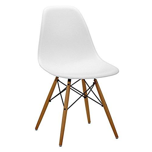 4 x sillas blancas charles eames r plica tienda - Silla eames amazon ...