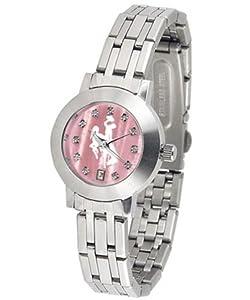 University of Wyoming Cowboys Ladies MOP & Swarovski Crystal Watch by SunTime