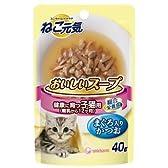 ねこ元気 おいしいスープ 子猫用まぐろ入りかつお 40g×12コ