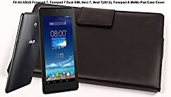 SVVM Case cover for ASUS 7inch Tablets Synthetic Lather Case cover Magnetic Closer Model : SVVM004ASUSCB (Black)