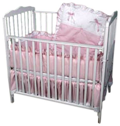 Baby Doll Bedding Pretty Pique Port-a-Crib Set, Pink