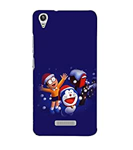 printtech Doraemon Back Case Cover for Lava Pixel V1