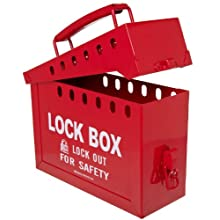 Brady Portable Group Lock Box, Metal