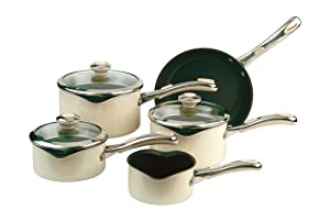 Meyer Select Advantage Non-stick Cookware Saucepan Set, 5 Piece - Almond