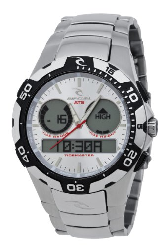 Rip Curl A1029 Silver Men's Chronograph Wrist Watch