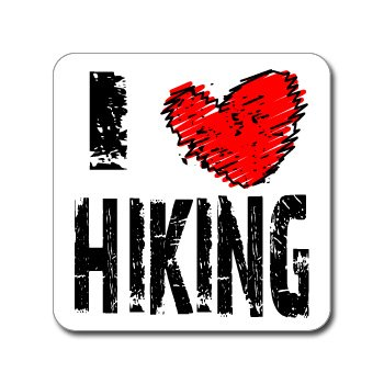 I Love Heart HIKING - Window Bumper Laptop Sticker