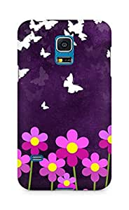 Amez designer printed 3d premium high quality back case cover for Samsung Galaxy S5 Mini (Butterfly n Flowers)