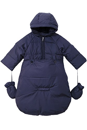 Oceankids Baby Boys Navy Blue Newborn Pram Down Bunting Snowsuit Detachable Bottom 6M 3-6 Months