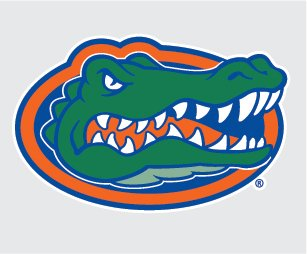 "Florida Gators Gator Head Logo Vinyl Decal 4"" Uf Car Truck Stickers"