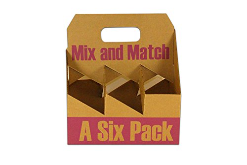 """Inno-Pak 097199598 Corrugated Wine Carrier, Mix-Match, 10.5"""" x 7"""" x 12"""" (Pack of 50)"""