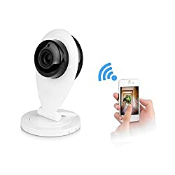 Podofo Mini Wireless WiFi Video Monitor Home Security IP Camera with Audio