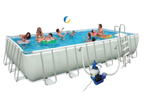 Piscine intex ultra silver pas cher for Piscine tubulaire rectangulaire intex 7 32x3 66x1 32 m