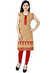 Yogalz Women Yellow Color Cotton Casual Party Wear Kurti Girls Kurta