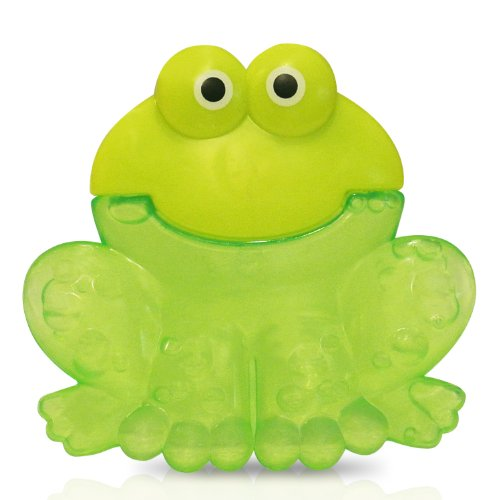 Bebe Dubon Fun Animal Soft and Hard Water Filled Teether, Frog