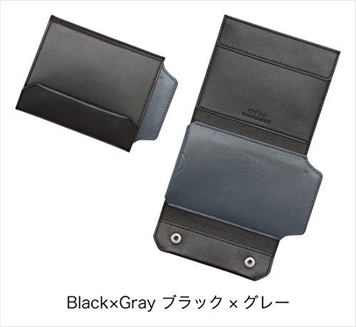 iPhoneも入る財布 ブラック×グレー