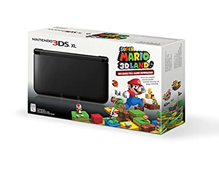 Black Nintendo 3DS XL with (Pre-installed) Super Mario 3D Land Game