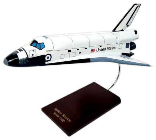 Orbiter Atlantis Wood Model Spacecraft