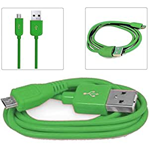 Green 1M Micro USB Data Sync / Charge Charger Charging Transfer Connectivity Adapter Cable Cord Lead Wire For NOKIA LUMIA 630 Android Mobile Cellular Cell Phone