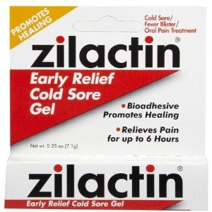 Zilactin Cold Sore Relief Gel 0.25 oz (Quantity of 4) from Zilactin