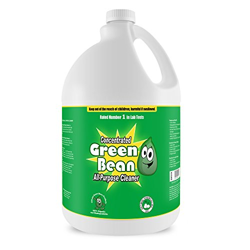 Green Bean All Purpose Cleaner Concentrate - Non Toxic Heavy Duty Degreaser That Removes Grease, Dirt, Grime From Bathroom Surfaces, Kitchen Counters, Sinks, & Stainless Steel Appliances - 100% Money Back Guaranteed - Used By Professionals - Green Bean All Purpose Cleaner Concentrate, 1 Gallon (Heavy Duty Green Cleaner compare prices)