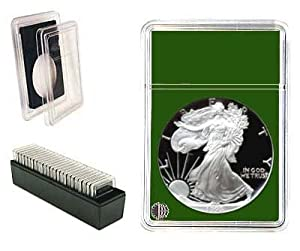 "Coin World Premier ""Slab Type"" Coin Holder - 16.51 MM - for U.S. Draped Bust Half Dimes - Green"
