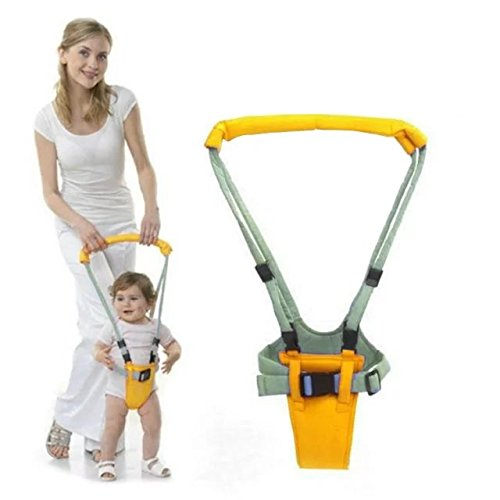 [Handheld Baby Walker Toddler Walking Wings Baby Toys Adjusted Baby Learning Walking Assistant Harness Keeper,Great Preshool Tool For 6-14 Months] (Wood Costumer)