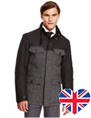 Best of British Pure Wool Waxed Padded Parka