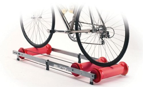 Elite Ghibli Parabolic Roller Trainer  - Silver/Red
