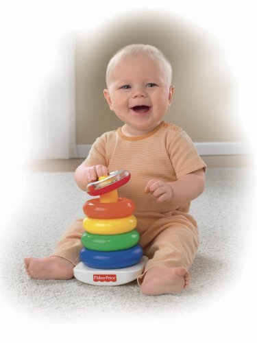 Fisher-Price Brilliant Basics Rock-A-Stack Customerpackagetype: Frustration-Free Packaging Toy, Kids, Play, Children front-795372