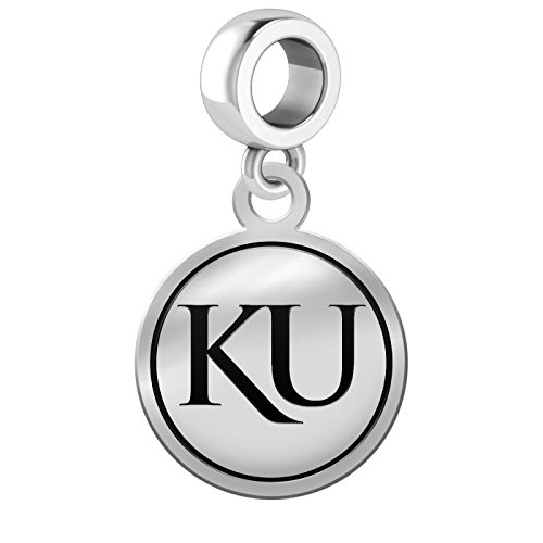 Kansas Jayhawks Border Round Dangle Charm