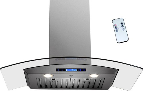 "Firebird 36"" Wall Mount Range Hood Fbak-50D-90 Stainless Steel Vent Hood W/Remote And Gas Sensor"