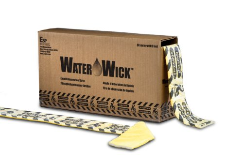 "Esp Wwk Water-Wick Universal Absorbent Fluid Control Strip, 17 Gallon Absorbency, 100' Length X 4-1/2"" Width, Yellow front-127066"