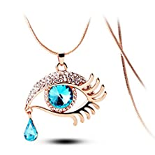 buy Angel'S Tears Gold Plated Eye Shape Austrian Crystal Pendant Necklace For Womens In Fashion Jewelry